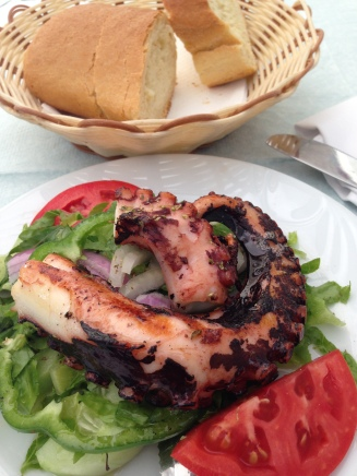 Grilled octopus, again and again