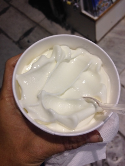 I can´t begin to describe the taste of greek frozen yogurt. We don´t have it in the US. Not like this