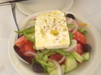 What else? Greek salad.