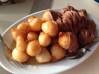 My most sinful pleasure (of the palate) in Greece Loucoumades (greek donuts with chocolate and honey)