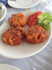 Tomato Fritters, a Santorini specialty